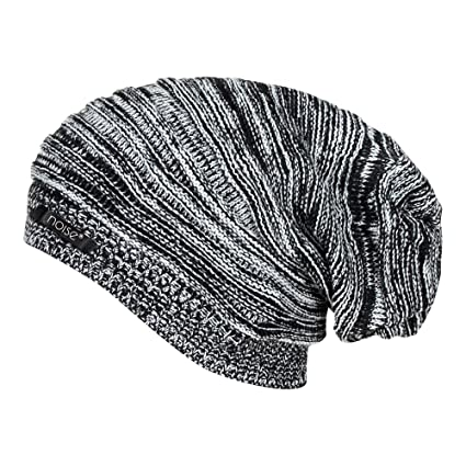 9493d596515 Noise Men s Acrylic Beanie Cap - NOICAP-WNTR004 Black and White Free Size   Amazon.in  Sports