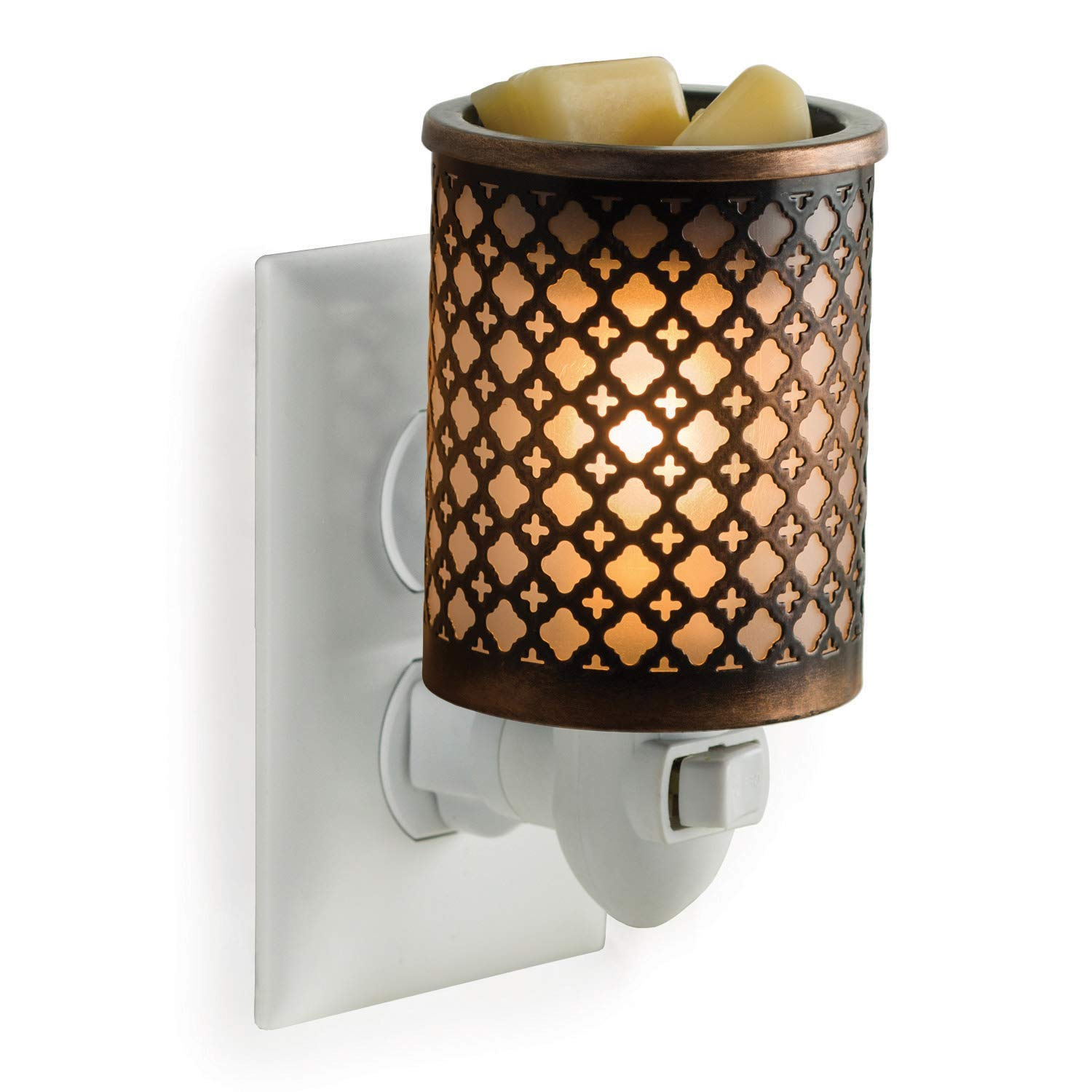 CANDLE WARMERS ETC Pluggable Fragrance Warmer- Decorative Plug-in for Warming Scented Candle Wax Melts and Tarts or Essential Oils, Moroccan