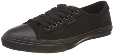 Superdry Damen Low Pro Sneaker Slip on, Schwarz (Black 02A), 40 EU