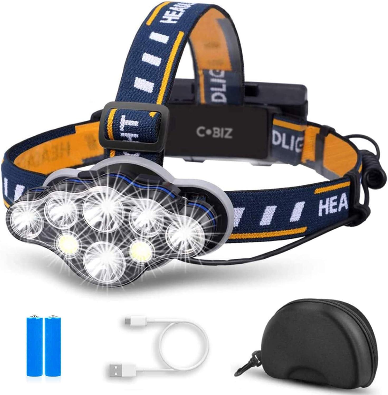 headlamp P50 CREE+MICRO USB WD-117 ACCUMULATOR LED new in 2021