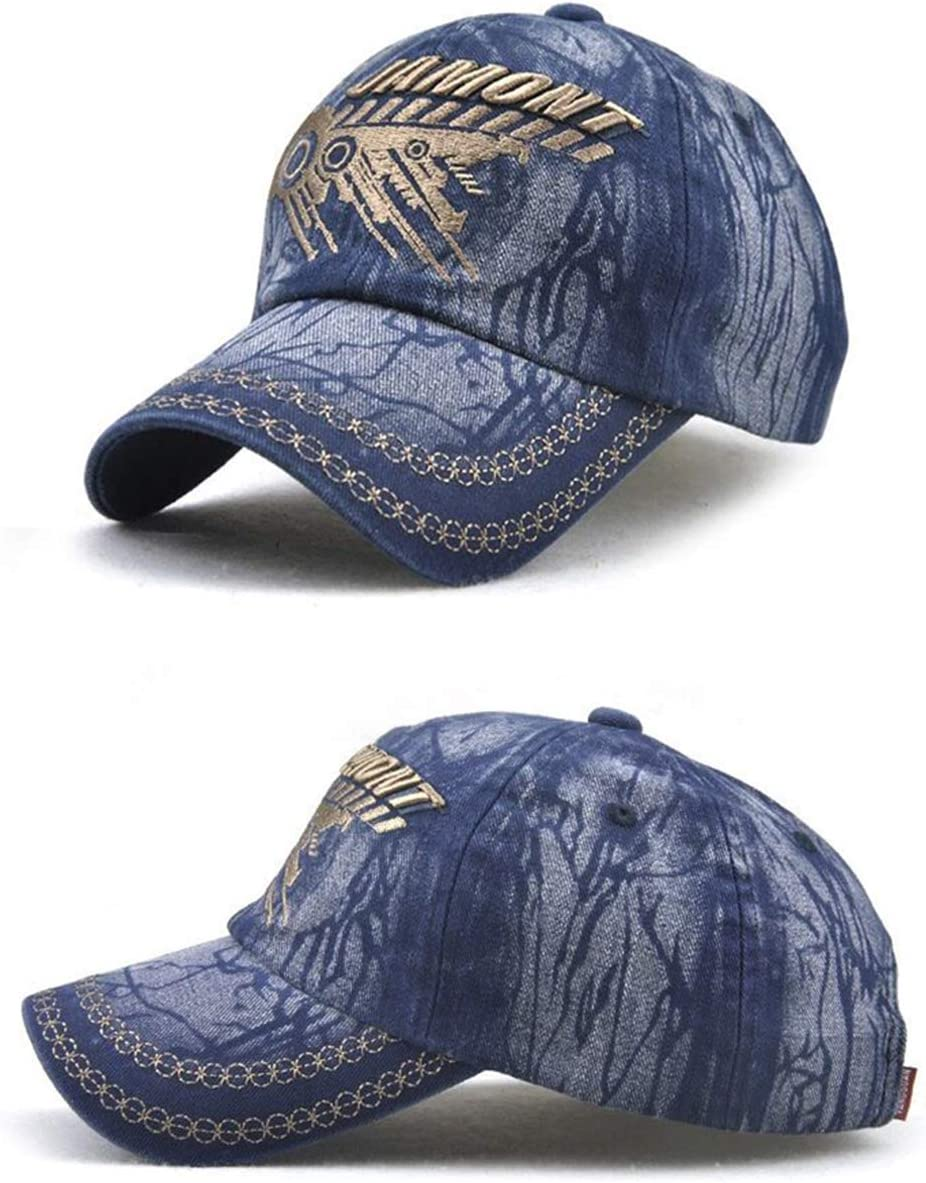 Owl Denim Hat Adjustable Mens Casual Baseball Caps