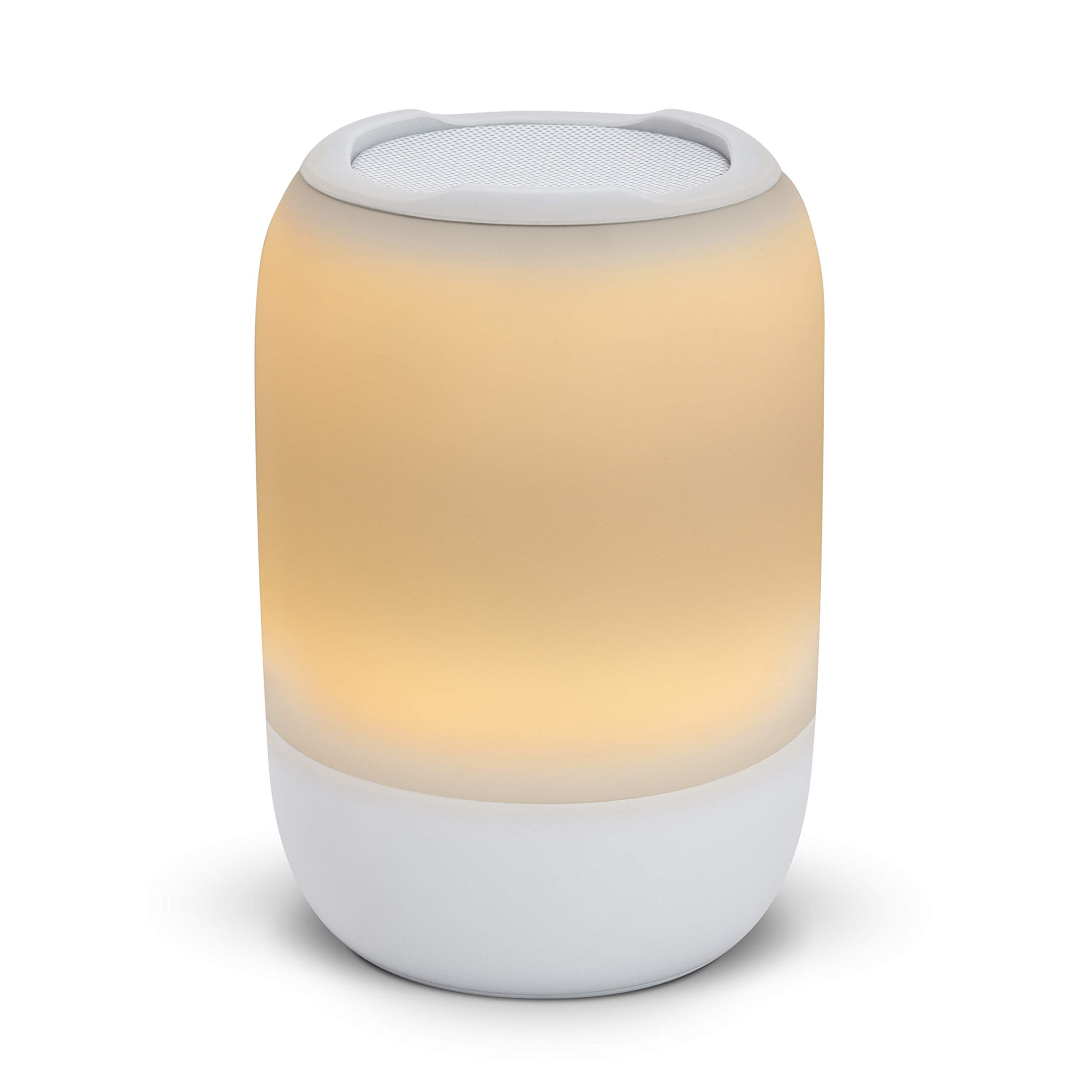 iHome Zenergy Portable Rechargeable Bluetooth Color Changing Speaker with Sound Therapy, Bedside Sleep Therapy Speaker with Wake-up Light 4 Color Modes, 15 Soothing Sounds, Calming Meditation (White) by iHome