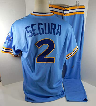 online retailer 6710f db14a 2018 Seattle Mariners Jean Segura #2 Game Used Blue 1979 ...