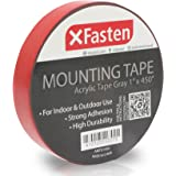 XFasten Extreme Double-Sided Acrylic Mounting Tape Removable, Gray, 1-Inch x 450-Inch, Weatherproof, Super Strong Double-Sided Adhesive and Tough Bonding Strength