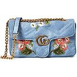 denim Women Messenger Bags Handbag Shoulder Handbags Crossbody Bag Totes Embroidered flowers