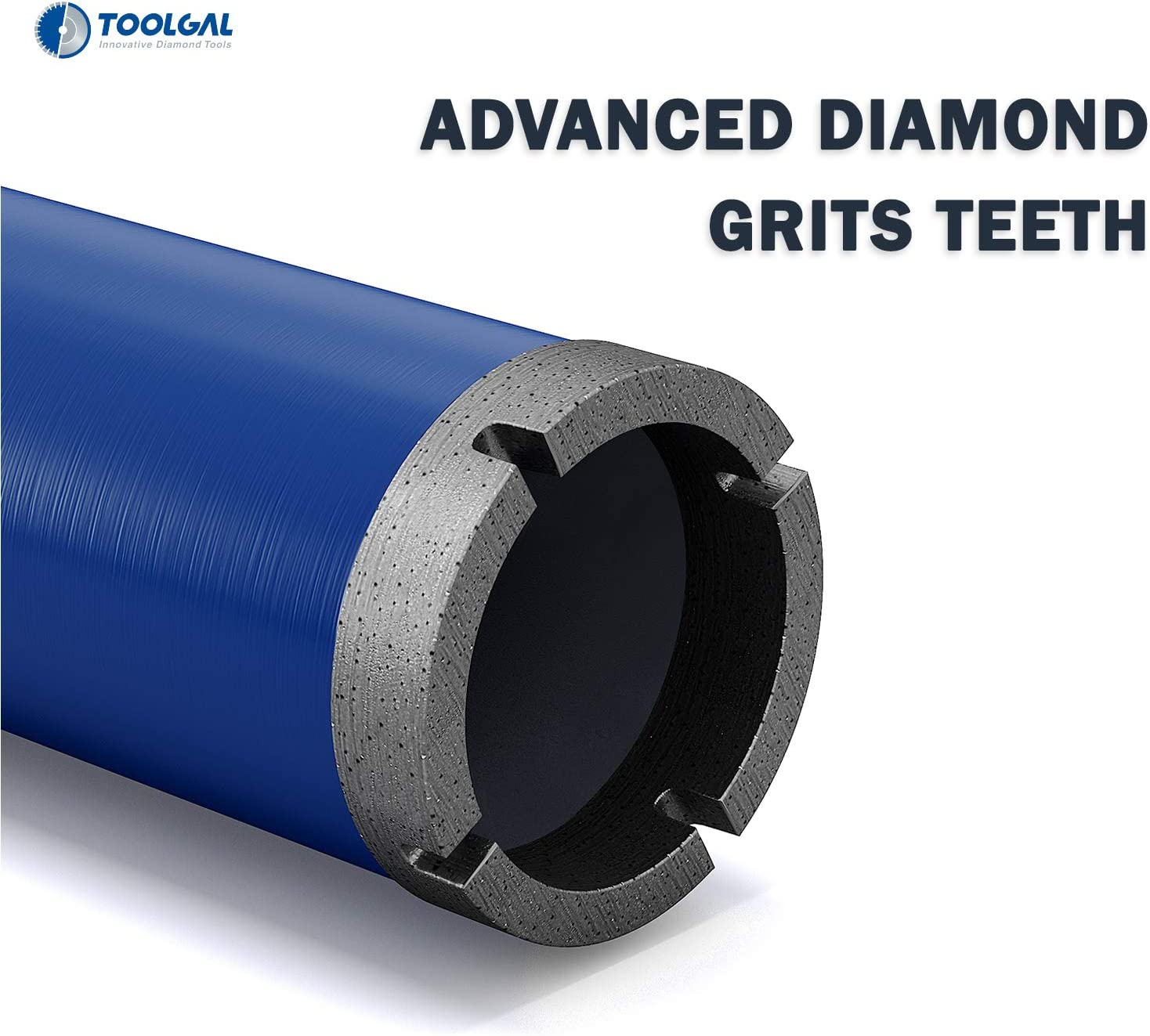 """Toolgal 1 1//2/"""" Reinf 40mm Wet Drilling only for Use with Fixed or Hand-Held Core Drilling Machines with Water Feed to Drill Holes in Construction Materials Such as Concrete Diamond Core Drill Bit"""