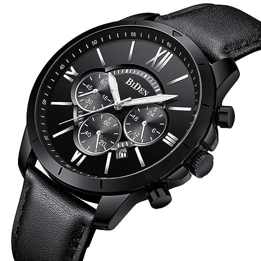 Montre, Montre Homme Affaires Mode Sport Décontractée Élégant Luxe Cuir  Chronographe Calendrier Etanche Quartz ( d6d2d2994fd6