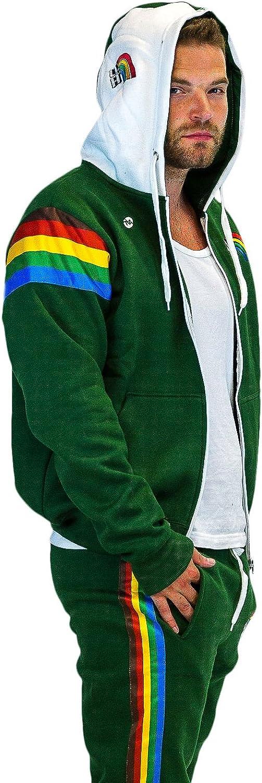 Hawaii Rainbow Warriors Rainbow Fleece Full Zip Up Hoodie