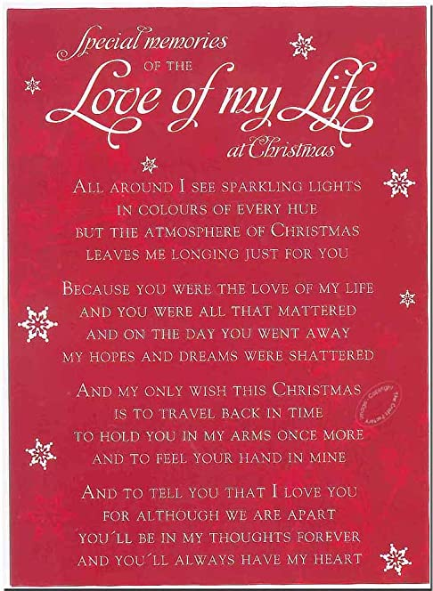 Grave Card   Special Memories Of The Love Of My Life At Christmas   Free  Card