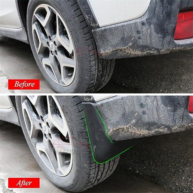 N2Qnice 4 PCS Front Rear Car Mudflaps for Subaru XV Crosstrek 2018 2019 2020 Fender Mud Guard Flap Splash Flaps Mudguards Accessories