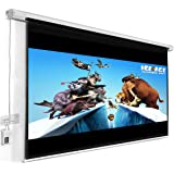 """Giantex 120"""" 16:9 Motorized Electric Auto Projector Projection Screen Remote Control"""