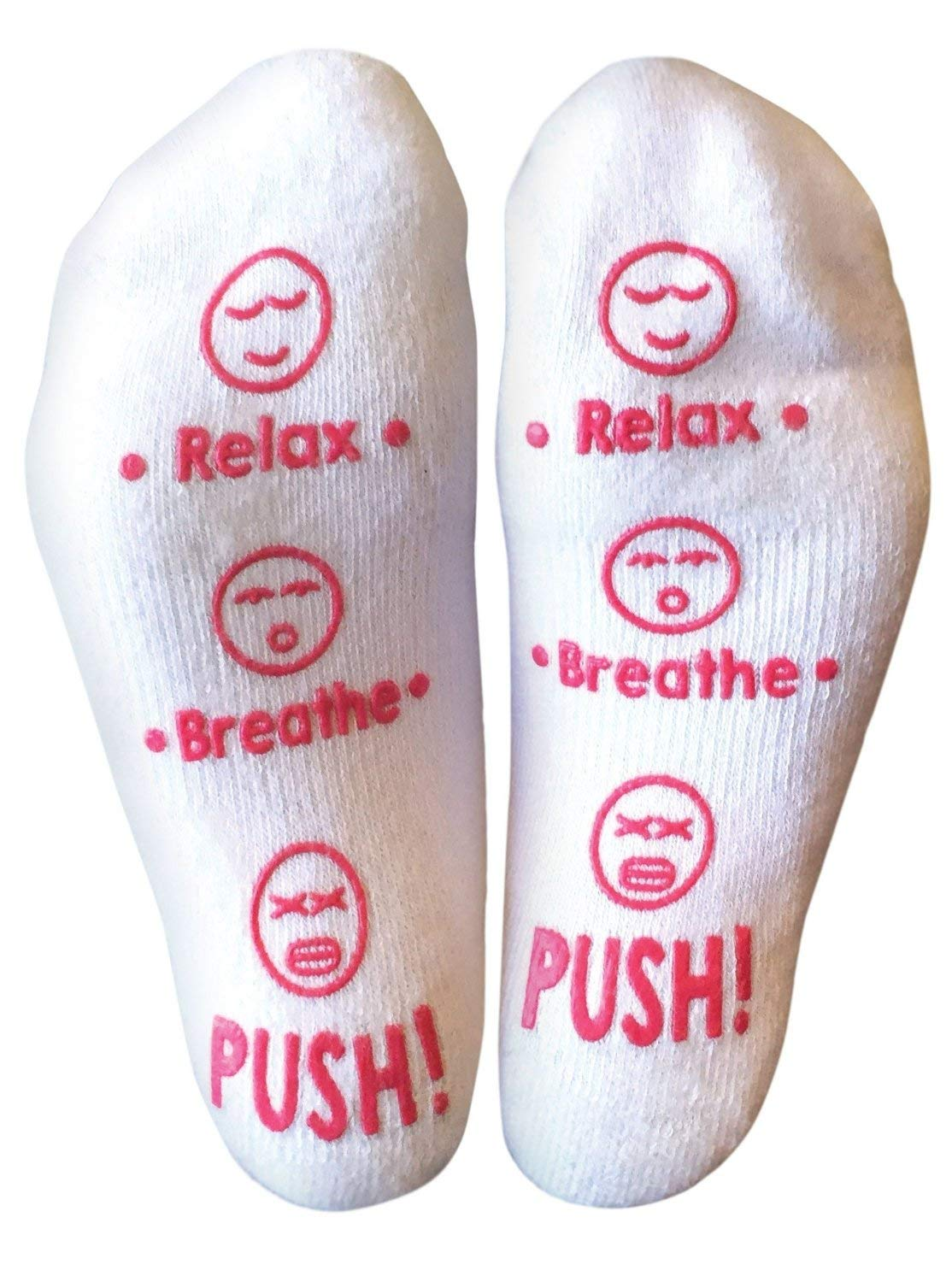 Labor and Delivery Socks - Baby Shower Gift or Ready Set Push Gift for Mom to Be