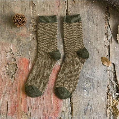HDWD Calcetines de algodón Hombres Mujeres Calcetines de Invierno a Rayas Vintage Calcetines de Adolescente Calcetines térmicos Gruesos Arte para hombre-14_Uno_Tamaño: Amazon.es: Hogar