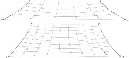 grower nets Flexible Trellis Netting with Metal Hooks Single 4 mesh net