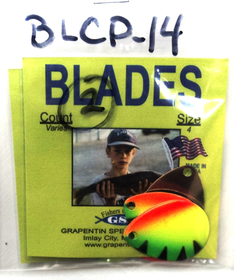 Custom Painted Colorado Blades - Multiple Colors - Count Varies by Color - Great for Making Your Own Lures! - #BLCP