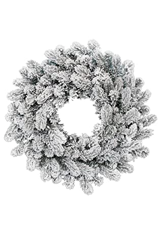 King Of Christmas 24 King Flock Wreath Unlit