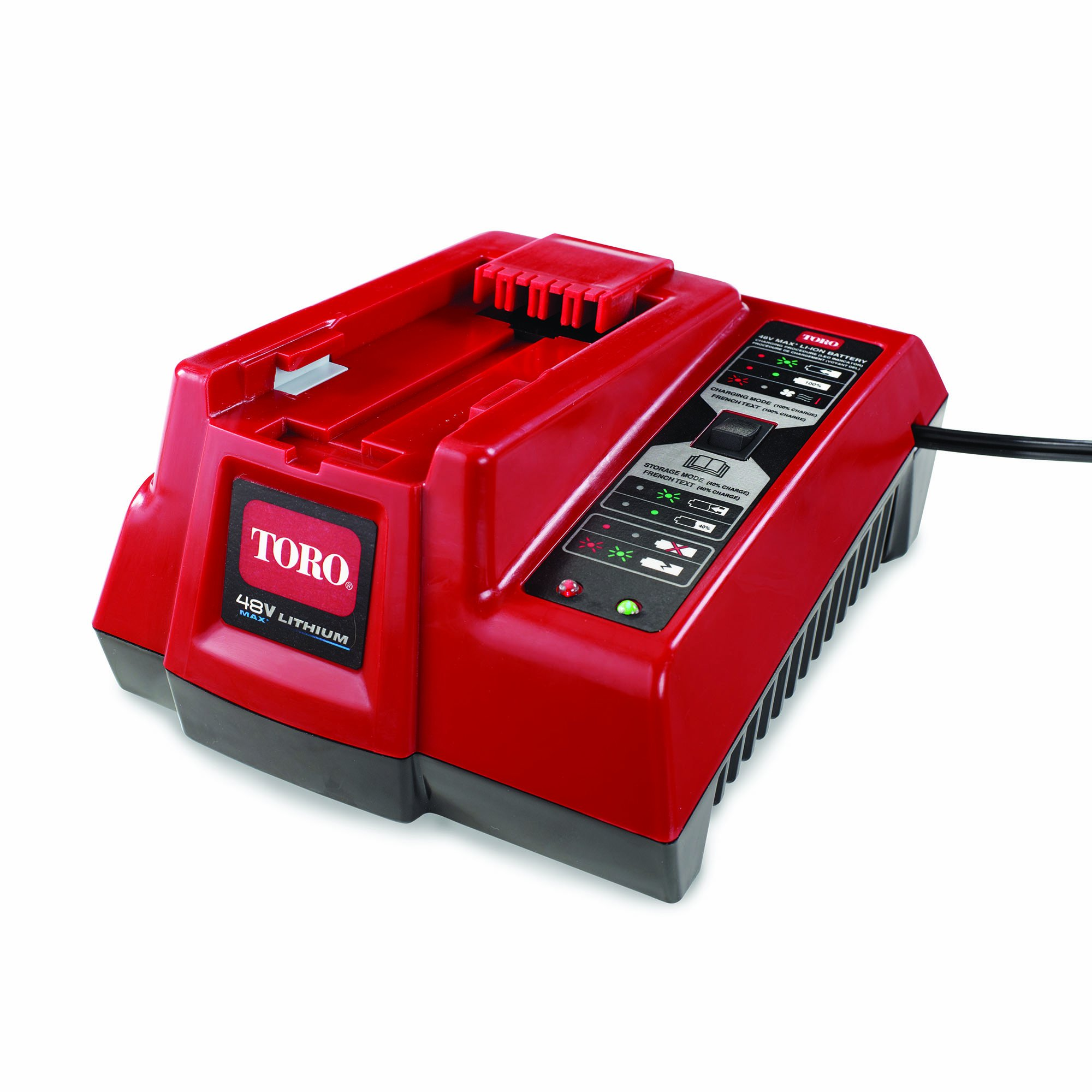Toro 88507 Standard Charger for Trimmer Lithium-Ion Battery, 48-volt