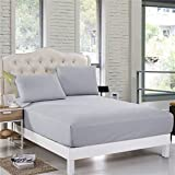 """Sleep Matic Waterproof 78""""x 72"""" Cotton Fitted King Size Mattress Protector with Elastic Strap (Grey)"""