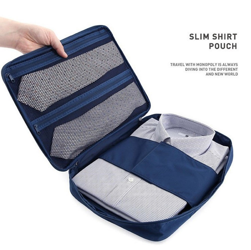 Multi-function Shirt Packing Organizer Travel Tie Storage Luggage waterproof Bag for Men AUTO PDR