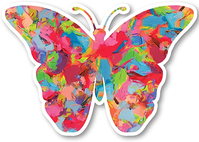 """Butterfly Sticker Watercolor Paint Stickers - Laptop Stickers - 2.5"""" Vinyl Decal - Laptop, Phone, Tablet Vinyl Decal Sticker S1234"""