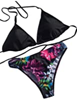 Push up swimsuits for women bikini Cut Out Padded Printed Bikini Set GET N SWIM FBA