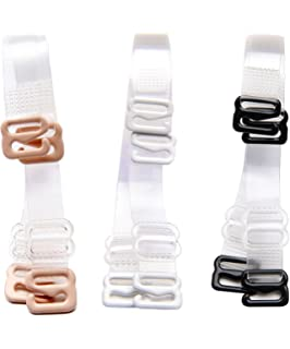 4c6f0b64cf9 3 Pairs of Fashion Clear Adjustable Bra Straps Invisible Replacement Bra  Shoulder Straps Metal…