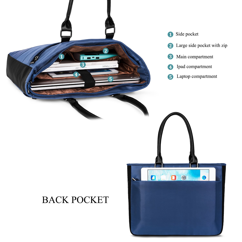 LOKASS MF8002 - Bolso Ordenador Bandolera para Ordenador Bolso portátil (Nailon Ligero, Resistente al Agua, 15,6 Pulgadas) Azul Azul 15,6 Pulgadas f7014d