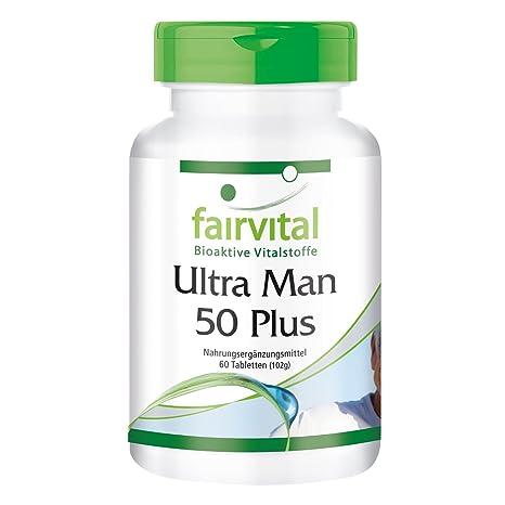 Ultra Man 50 Plus - para 1 mes - Alta dosificación - 60 comprimidos de multiVitaminas