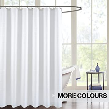 Amazon.com: jinchan White Shower Curtain for Bathroom Water ...