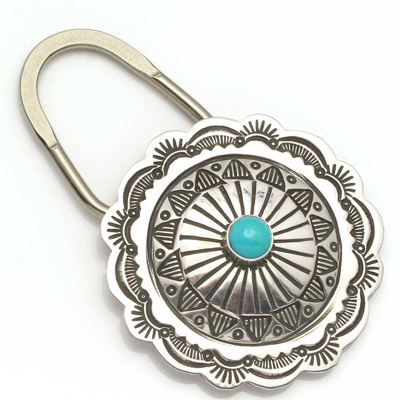 Amazon.com: Turquesa y llavero de plata por blackgoat: Jewelry