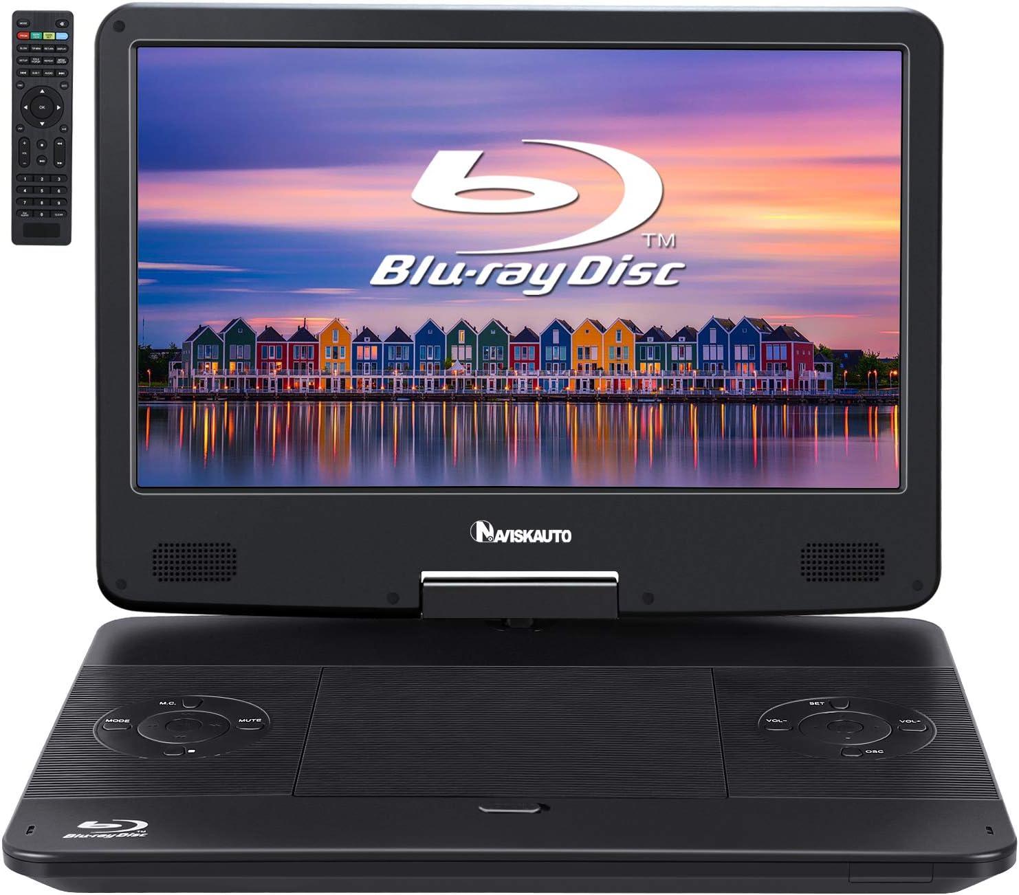Akku-Blu-ray-Player Auto-DVD-Player Portable Mobile DVD-Player HD 14.1 Zoll-Video-Player mit TV-EVD LUONE Tragbarer DVD-Player
