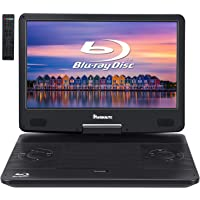 """NAVISKAUTO 14"""" Portable Blu-Ray DVD Player with Built-in Rechargeable Battery, AUX Cable, Supports 1080P MP4 Video, HDMI Input/Output, Dolby Audio"""