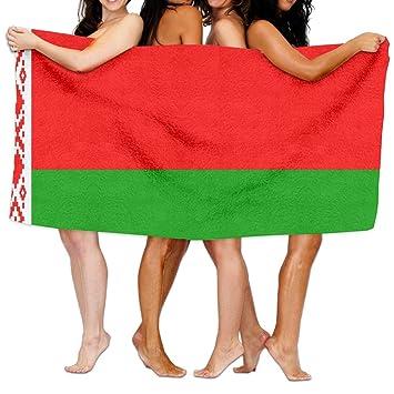 Amazon.com: weedkeycat bandera de Bielorrusia toallas de ...
