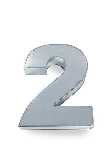 Euro Tins molde para tarta de cumpleaños de número grande DOS 2 (tamaño 35,5 x 25,4 cm - 7,6 cm de profundidad): Amazon.es: Hogar