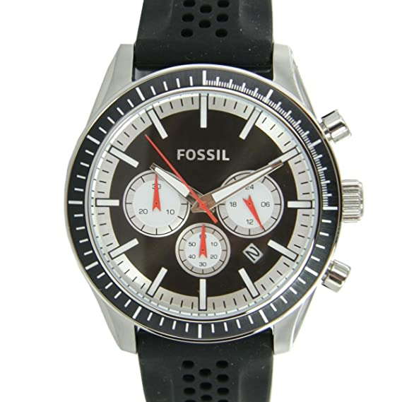 Fossil BQ1261 - Reloj para hombres, correa de silicona color negro: Amazon.es: Relojes