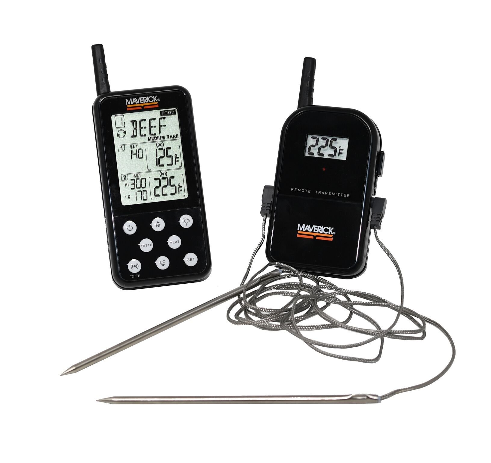 Remote Meat Thermometer, BBQ & Grill-Digital Instant Read Long-range Thermometer by MAVERICK