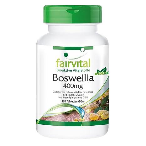Boswellia incienso 400 mg - 120 comprimidos para 2 meses - VEGAN - Boswellia serrata 65