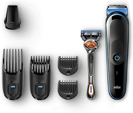Braun All-in-one MGK5045 depiladora para la barba Negro, Azul ...