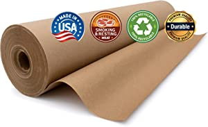 Industrial Grade Paper for Moving & Packing | Shipping, Gift Wrapping, Arts, Crafts & Table Settings | Recycled Kraft Paper Roll | 17.75 inches x 200 feet | by Paper Pros