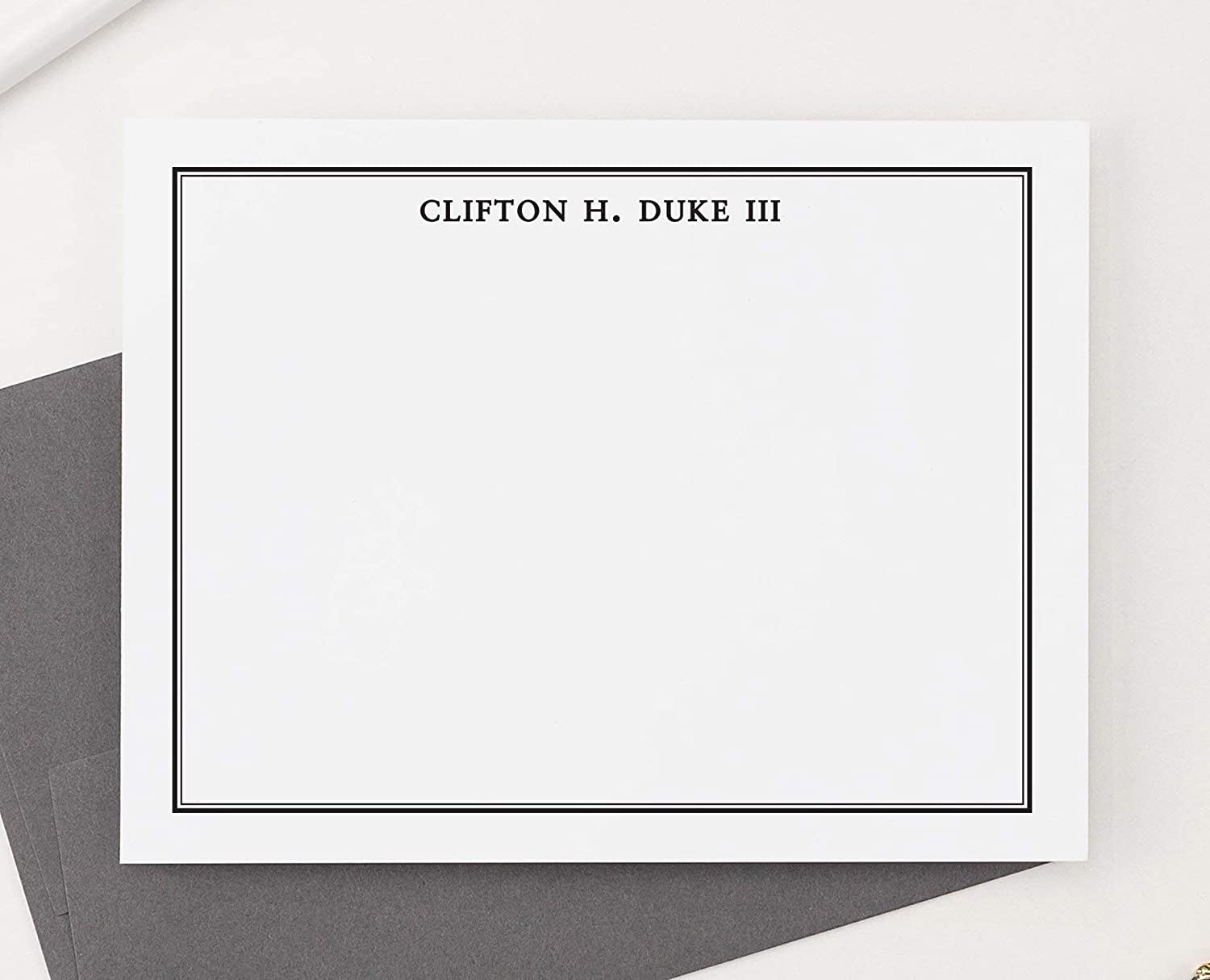 mens personalized stationery set for boys boys personalized thank