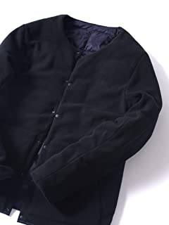 Jet Blue Reversible Crew Neck Button Down Jacket 124-98-0001: Navy