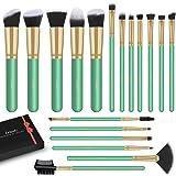 LEUNG Makeup Brushes, 18 Pcs Makeup Brushes Set, Premium Synthetic Foundation Powder Concealers Eye shadows Blush Makeup Brus