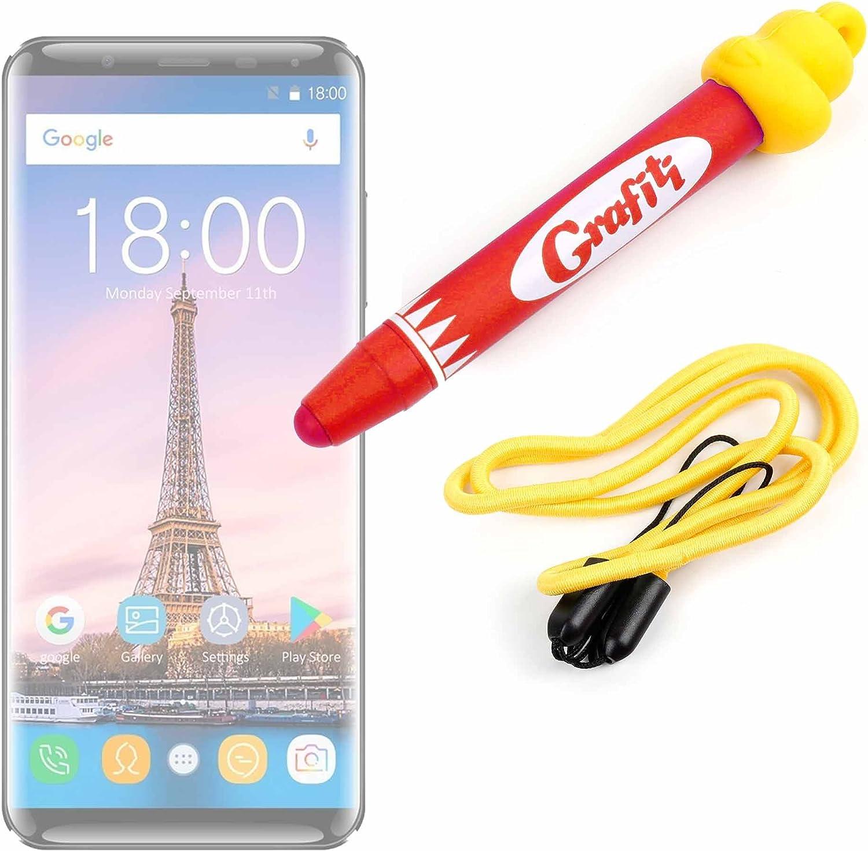 DURAGADGET Divertido lápiz Stylus para niños, para Dibujar y Jugar con su Smartphone OUKITEL K5000 Color Azul.: Amazon.es: Electrónica