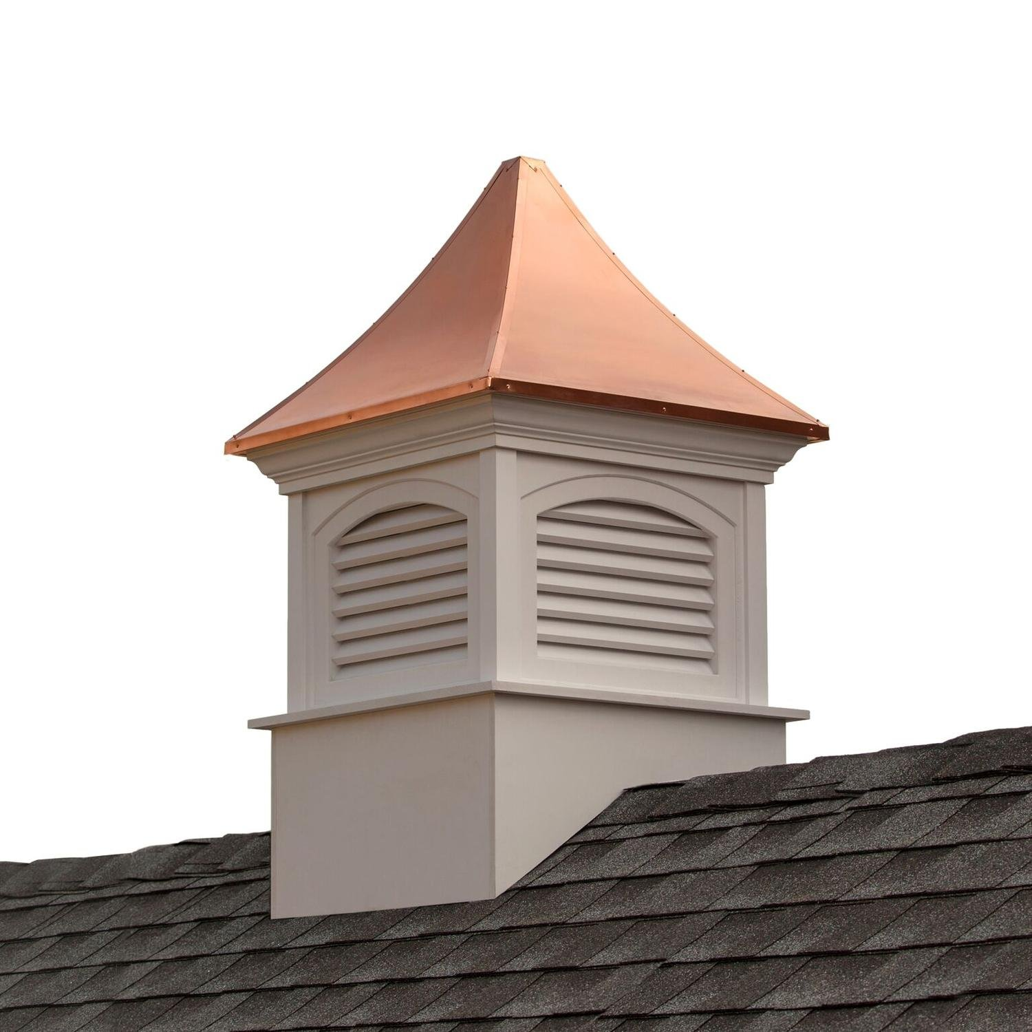 98'' Beautiful Handcrafted Southington Vinyl Cupola with Copper Roof