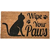 Evergreen Flag Coir Doormat Wipe Your Paws - Cat