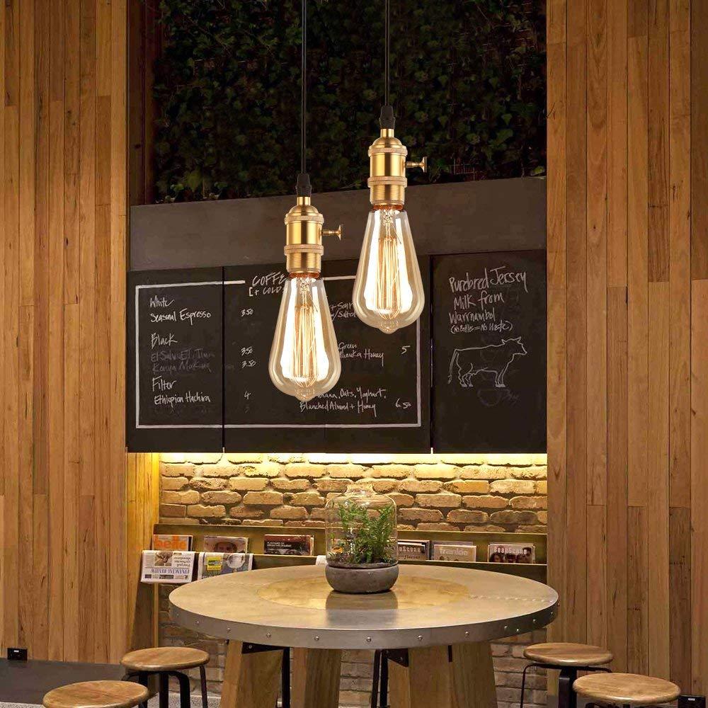 Set 2 St/ück MIFIRE Vintage E27 Lampenfassung mit Schalter Edison Deckenfassung Socket Lampenfuss Halter f/ür DIY H/ängeleuchte Deckenleuchte