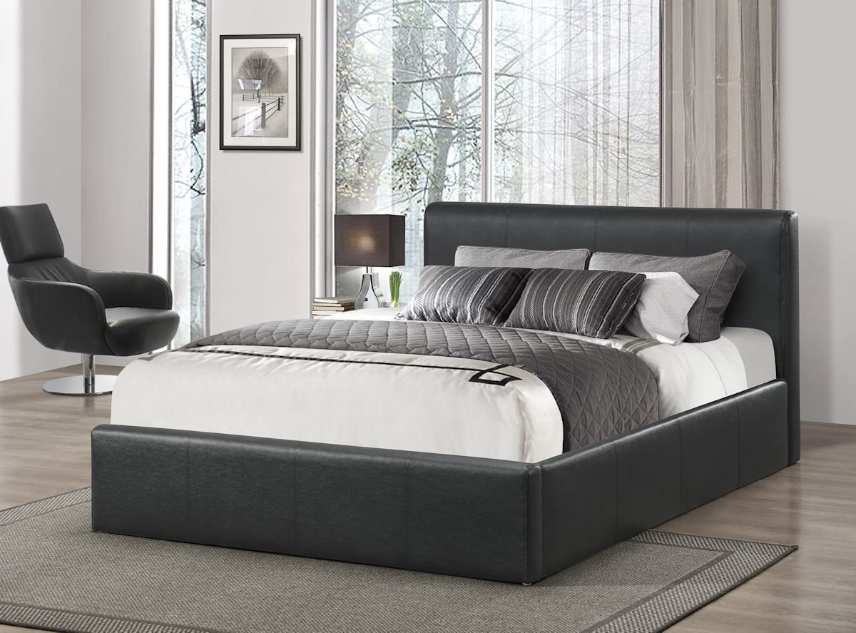 Birlea Ottoman 4ft Small Double Faux-Leather Storage Bed, Black:  Amazon.co.uk: Kitchen & Home