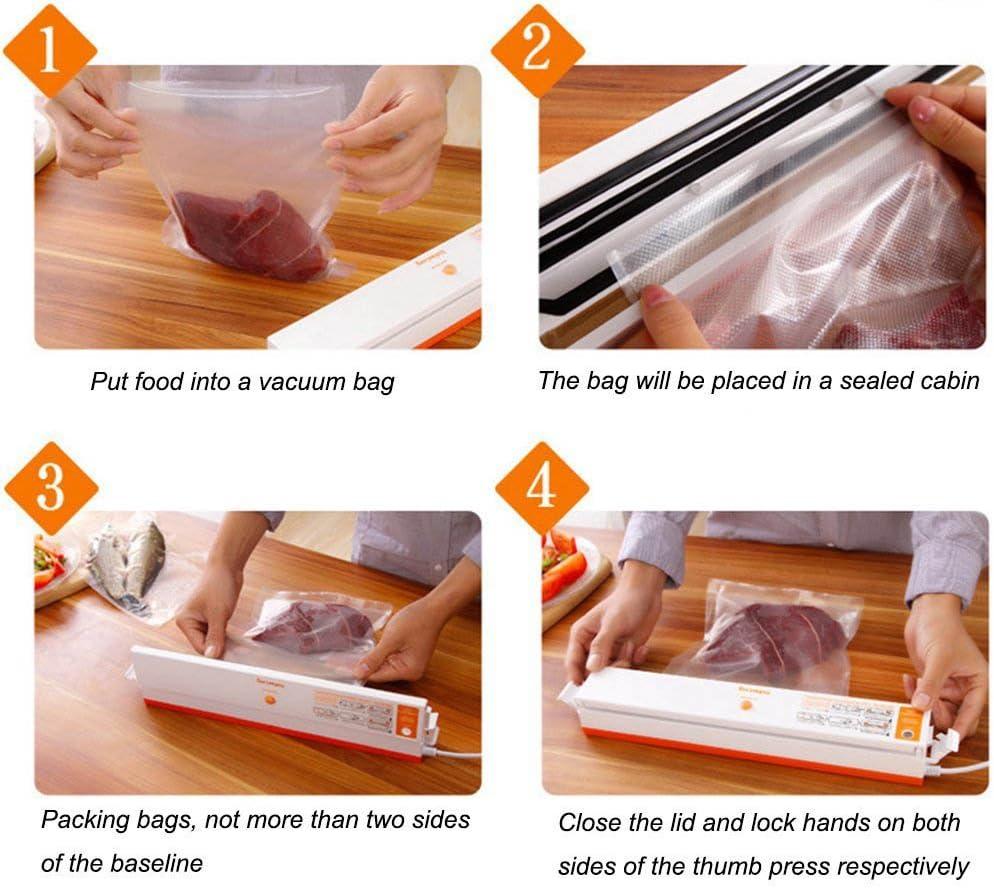 Pack di 5 rotoli per dispositivo di sottovuoto sacchetti sottovuoto alimentare per dispositivo di sottovuoto Sacchetti Sottovuoto per archiviazione alimentare 15cmx500cm