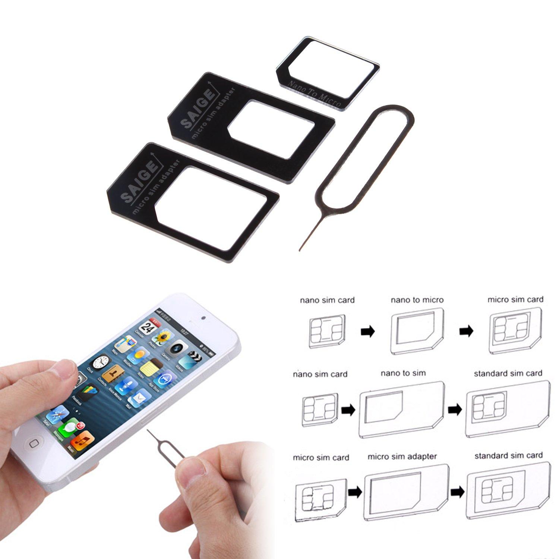 Samsung Galaxy S5 Sim Karte Einlegen.Wortek Nano Sim Adapter Auf Micro Und Standard Sim 4er Set Inkl Alle Adapter