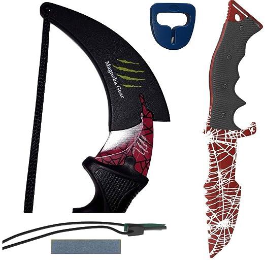 Amazon.com: Karambit y Huntsman cuchillo 2 piezas | csgo ...